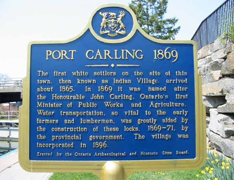Port Carling, Muskoka sign