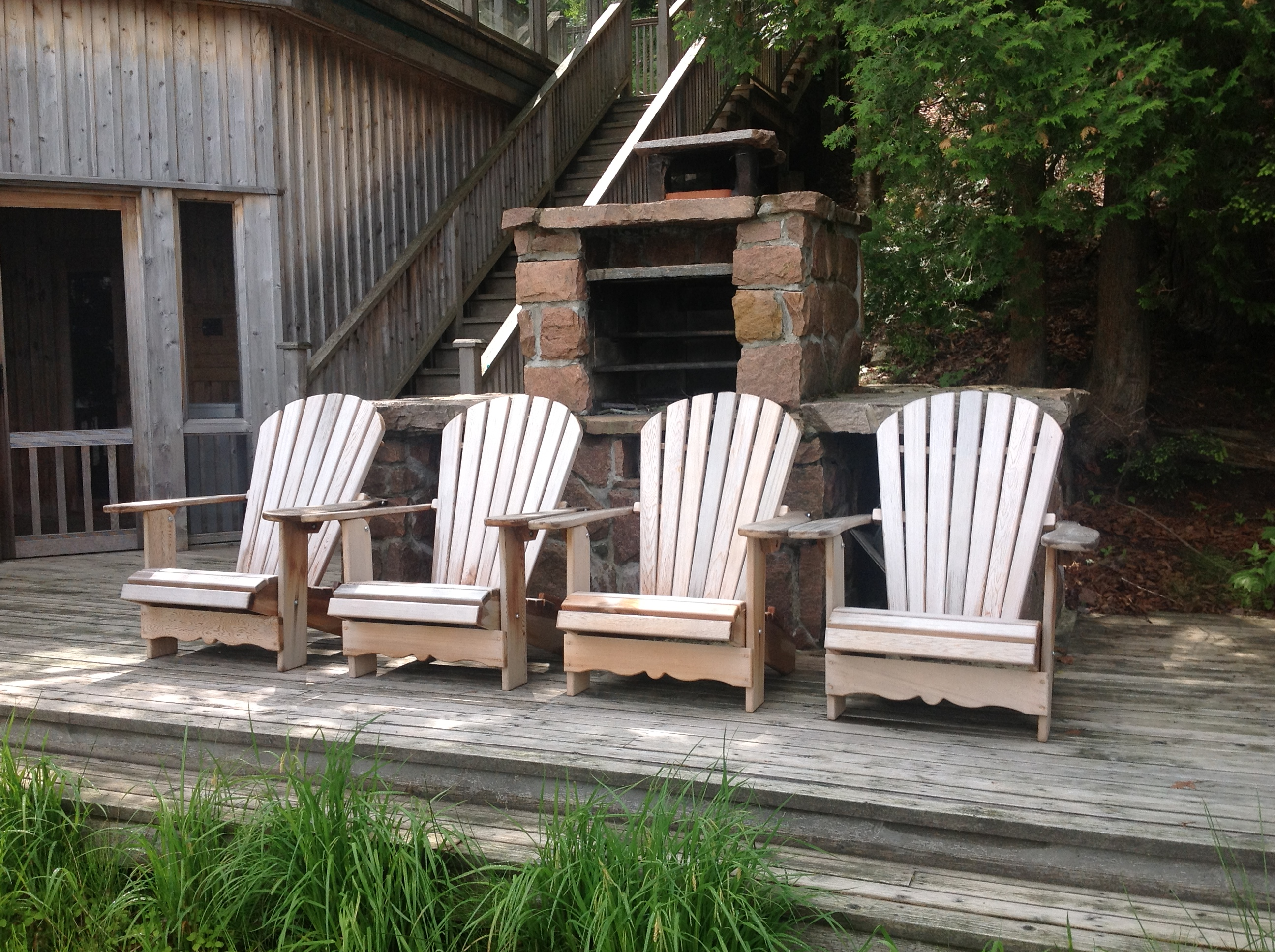 Muskoka chairs on Lake Rosseau